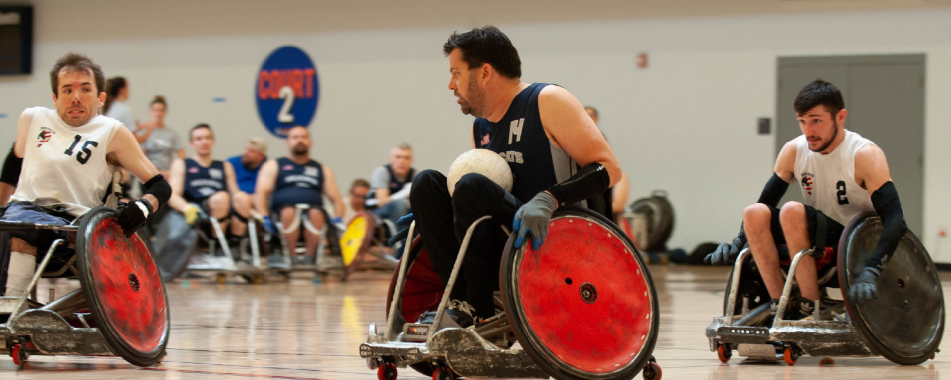 wheelchair rugby players