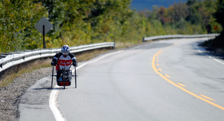 handcycling in white mountains